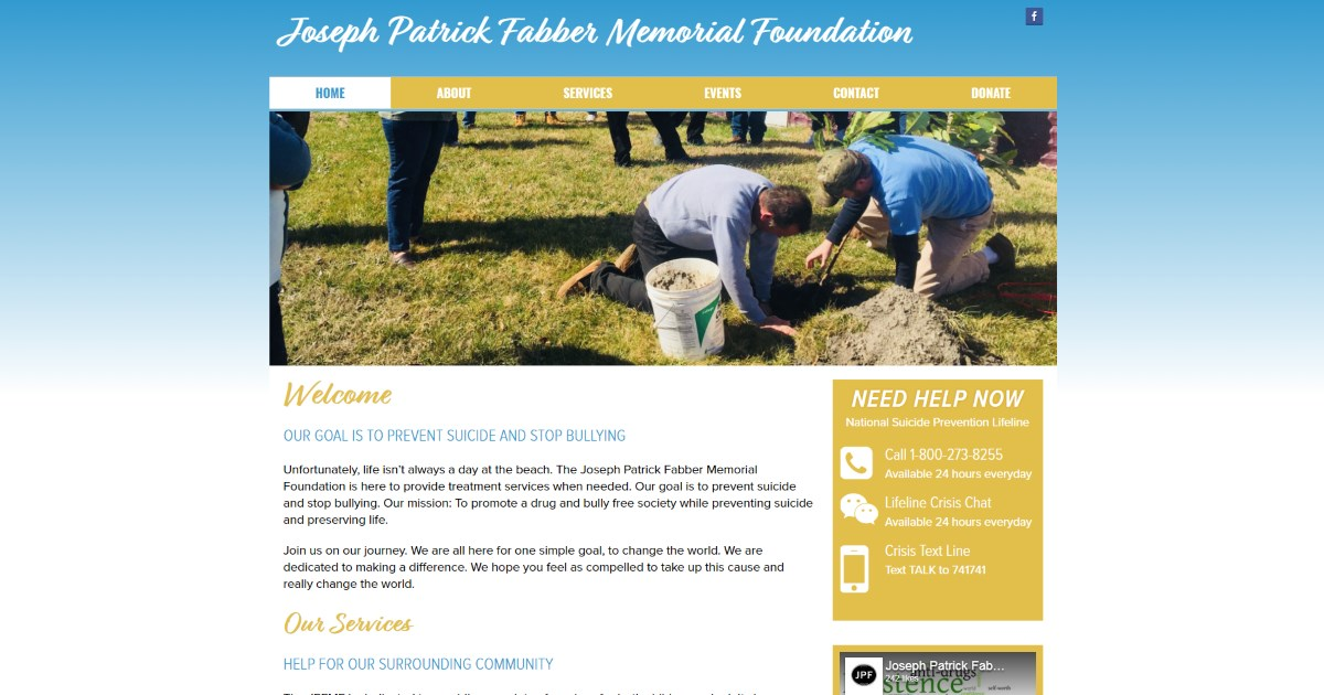 Joseph Patrick Fabber Memorial Foundation » A Small